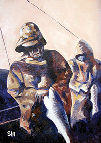 Fishermen's Delight - 10x14in-LR